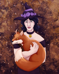 Witch and Fox by Sparr0wlicious