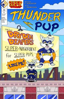Thunder Pup Official Comprehensive Comic Cover by SUPERcubs
