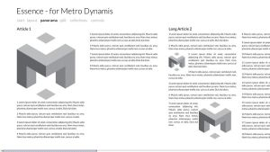 Essence Theme for Metro Dynamis - Metro Style UI by tank6b