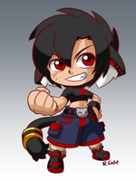 Pocket Fighter Lara by rongs1234