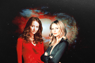 Buffy + Fred wallpaper + banner/header + icons by charmingangel22