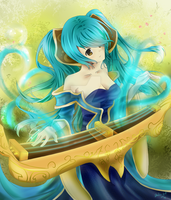::League of Legends:: Sona, Maven of the Strings by artsy-akalei