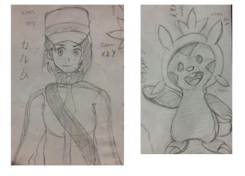 Sketch Dump - Pokemon X / Y by BrunoProg64