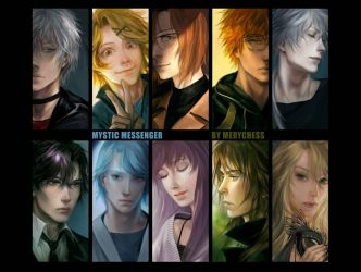mystic messenger.  all characters by MeryChess