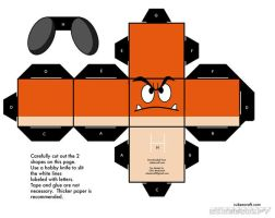 Goomba papercraft template by AUSTINMEADOWS