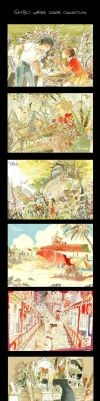 Ghibli water color by fukamatsu