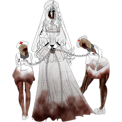 [ CP/ HORROR OC ] Concept of Silent Nurse by LiaWorlds