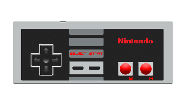 NES (Nintendo Entertainment System) Controller by AlexBird2581HD