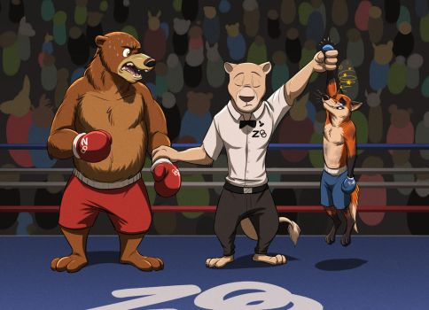Zoolympics Boxing (Zootopia) by Temiree