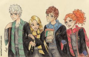 At Hogwarts by Sandra-13