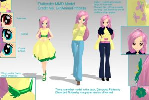 Fluttershy MMD Models by GirlAnimePrincess