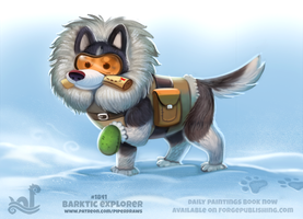 Daily Paint 1841# Barktic Explorer by Cryptid-Creations