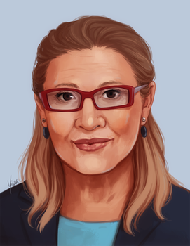 Patreon Reward - Carrie Fisher by yinza