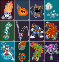 Daily Rockman - Rockman and Forte Enemies by IanDimas
