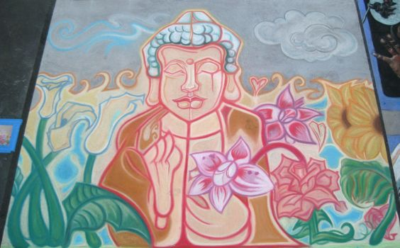 Buddha Blossoms by OhmSymbol