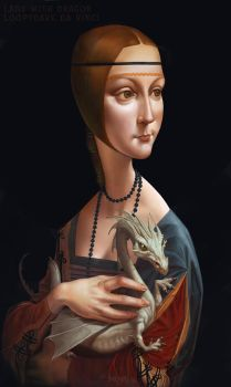 Lady with Dragon by Loopydave