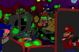 Super Smash Lazer Tag :  Red v Green by CoolflyerMizuki