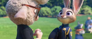 Judy receiving her badge by Ggianoli