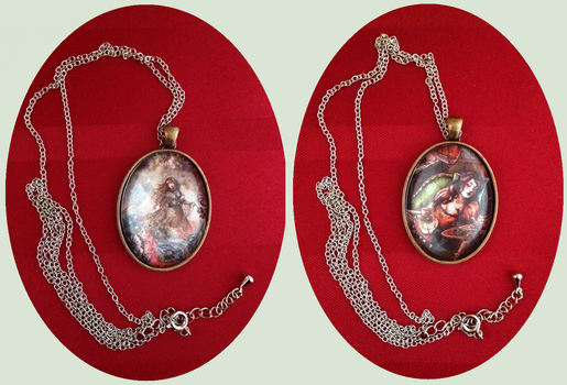 Necklaces ~ Sleeping beauties by Songes-et-crayons