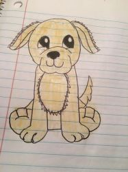 Webkinz butterscotch retriever drawing by lpscat123