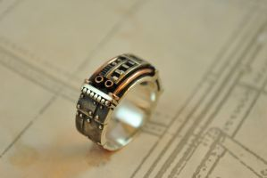 Steampunk Industrial Ring - Sustentorum by GatoJewel-DerKater