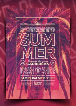 Summer Poster Template Vol. 5 by IndieGround