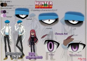 Hunter x Hunter - Kite's eyes by Andy-chanWantToDraw