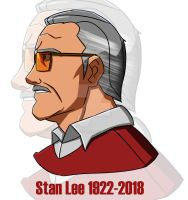 Stan Lee Tribute 1922-2018 by AgentXtremis
