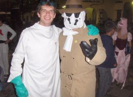 Dr Horrible and Rorschach by lordraptor
