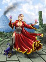 Dharma the Red Wizard of Thay by RubusTheBarbarian