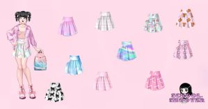 10 skirts PACK by School-shooter by School-shooter