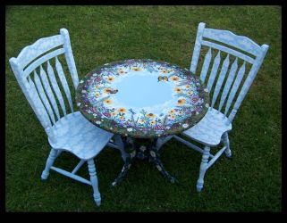 Pine Meadow Dining Set by ReincarnationsDotCom