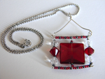 Red Square Pendant by EcstaticDismay