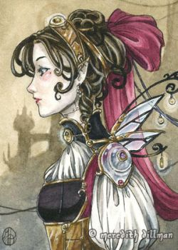 Steampunk Fairy aceo by MeredithDillman