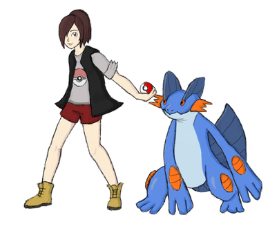 Pokemon Trainer and her Swampert by FromWinterToSpring