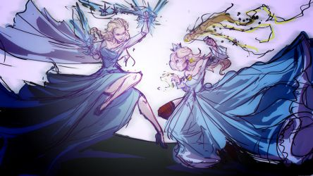 Rosie Vs Elsa by Jay-Phenrix