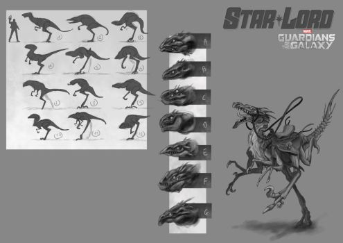 Star Lord's pet concept by Popuche