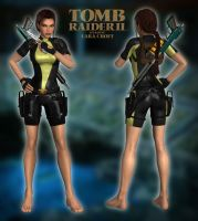 Lara Croft TR2 - Wetsuit  Yellow-Black by Larreks