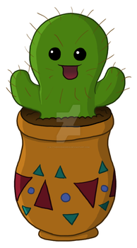 Happy Cactus by SlytherinsHeiress