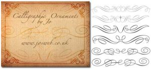 Calligraphic Ornaments Brushes by gojol23