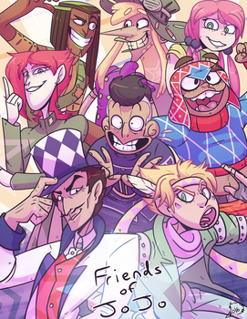 Friends of Jojo by birdkings