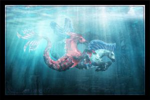 Hippocampus Race by Lady-Akyashaa