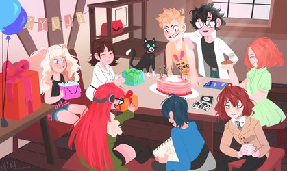 happy ryuji day !! by vickinxnn