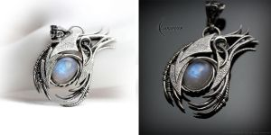 DARTHAR - Silver and Moonstone by LUNARIEEN