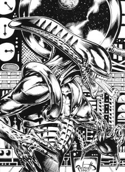 Alien drawing by PeterPalmiotti
