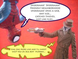 Spiderman and Rorschach Meet by Why-So-Seriouss