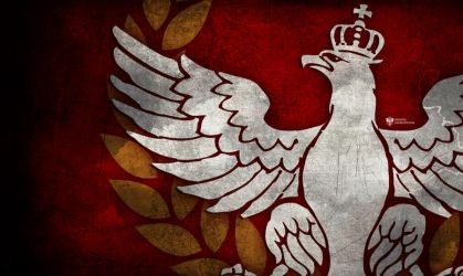 White Eagle with crown patriotic wallpaper by N4020