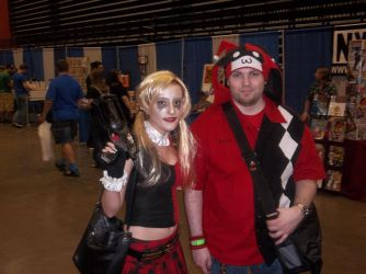 Myself and a Harley Quinn at TriCon 2012 by HarlequinHenchman