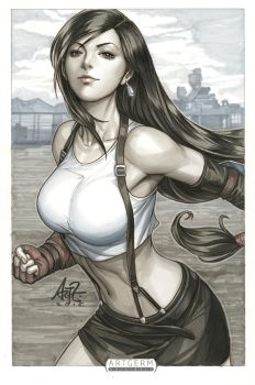 Tifa Lockhart2 Original Art by Artgerm