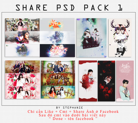 [SHARE PSD] PACK 1 - Like + cmt + share picture FA by stephanieangel28